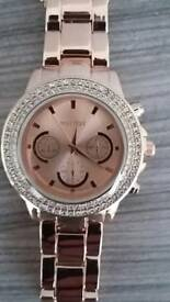 Mestige rose gold ladies watch