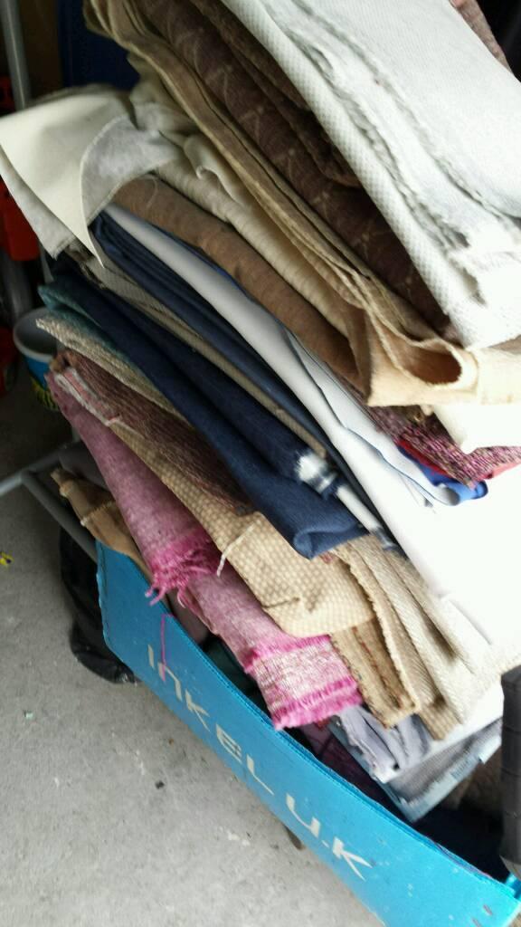 Fabric bundle upholstery
