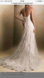 Stunning Maggie Sottero Wedding Dress size 8 (fits 6-10)