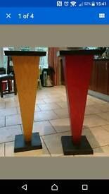 Wood/metal display podiums