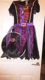 Halloween witches dress age 9 to 10 years