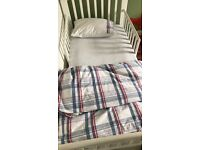 White Company Toddler duvet and bedding