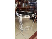 Vinatge Wrought Iron Telephone / Hall Table