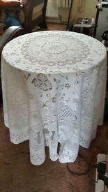 small display table & tablecloth