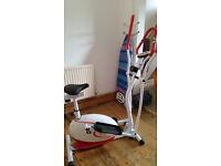Cross trainer (Elliptical) plus exercise bike 2 in 1