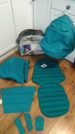 Britax Affinity new Lagoon Green pram, pushchair colour pack