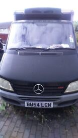Merc sprinter fridge and freezer van ( ex tesco van ) 2004