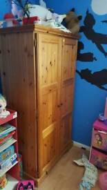 Pine children's wardrobe