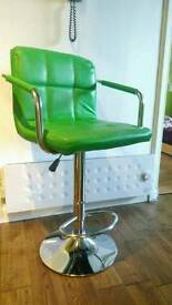 Bright green bar stool