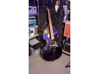 URGENT Double Bass Thomann, strings Eurosonic, padded case, extra bridge, Harringey Green Lanes,