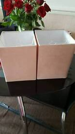 2x new lampshades