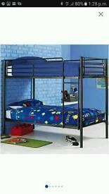 Samuel single 3ft black bunk bed