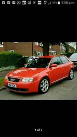 Audi S3 1.8T QUATTRO low mileage with a fsh and good condition NOT R32 GTI V6 VR6 GT 4 MOTION