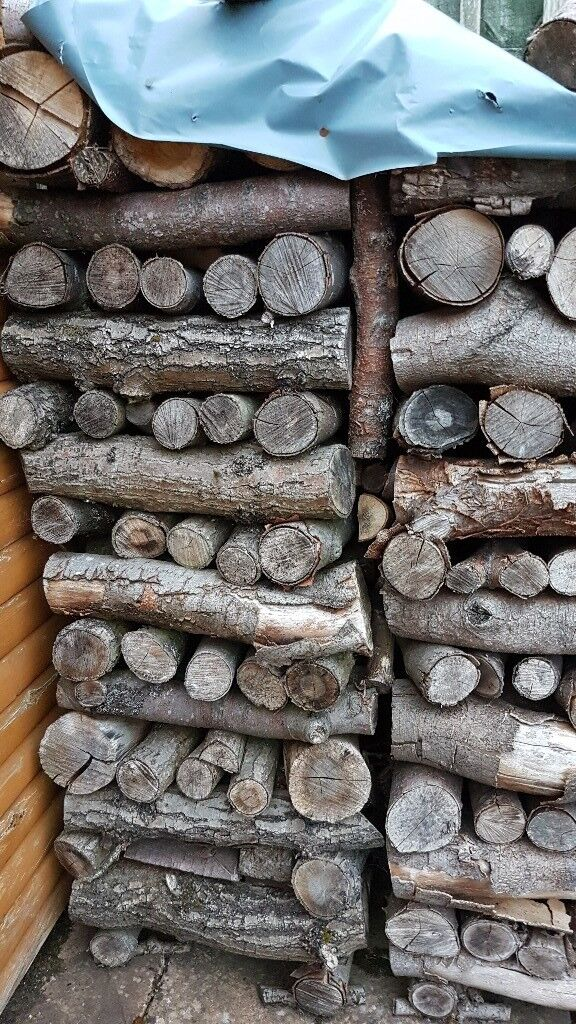FREE Seasoned hard wood logs for sale - 4-5ft stack. Buyer collects.