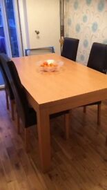 Dinning Table Four Chairs for sale £75 Ono