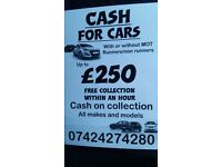 Cars wanted for cash/Scrap cars/mot failure/scrap yard Nottingham