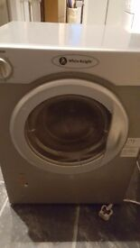 WHITE KNIGHT COMPACT TUMBLE DRYER SILVER GOOD WORKING ORDER IDEAL FOR SMALLER SPACES