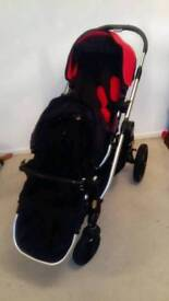 Baby jogger city select double pushchair with 2 raincovers