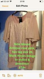 Ladies blouse top New with tags, size 20, can send by courier service