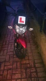 Red Honda CBF 125 2013, Low Mileage (360), Very good condition, Brand new 1 year MOT
