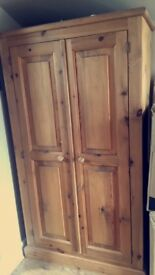 Solid oak wardrobe ,dressing table also available free single bed with headboard COLLECTION ONLY