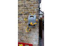 Outside garden water tap hose installation