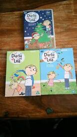 3 Charlie & Lola DVDs