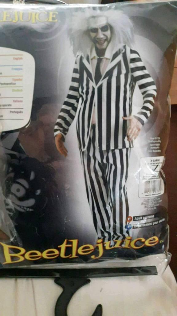 Halloween fancy dress outfit XL BEETLE JUICE