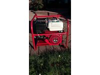 Honda 5.5 hp GX160 Generator low hours