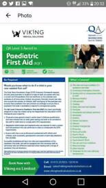 QA Level 3 Award in Paediatric First-aid