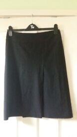 Ladies Womens Oasis Black A-Line Skirt size 10