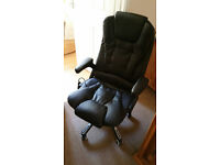 Superb nearly new office chair with massage