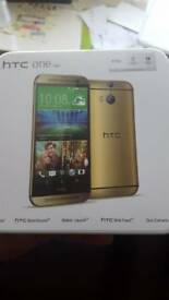 HTC One M8 new with all original accessories and original box
