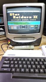 """SAMSUNG 14"""" Portable CRT TV/VCR Combo Retro Gaming with Remote"""