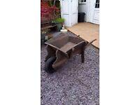 Wheelbarrow wooden antique style