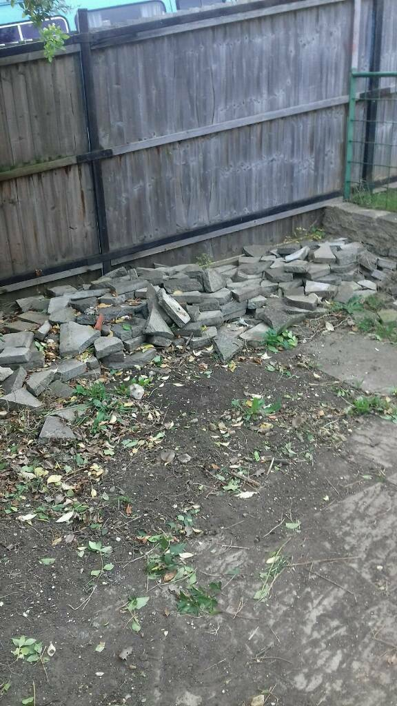 Broken paving slabs (free)