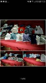 36 peice baby boy bundle 6-9 months + a free eeyore donkey soft toys
