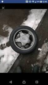 Ford escort rs2000 alloys with bran new tyers