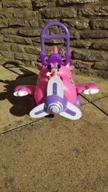 Mini Mouse ride on Toy aeroplane (pink) Disney