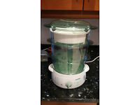 Reduced to £10 - Tefal electric food steamer with 3 tiered sections –