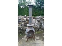 Extra Large Chiminea / Garden Fire - Solid Cast Iron