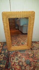 Mirror with Rattan surround