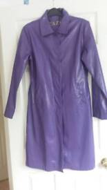 BNWOT Purple ladies wetlook raincoat