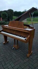 Art Deco Mornington & Weston baby grand piano 4.6ft|walnut case| Belfast pianos