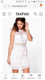 White peplum dress size 10