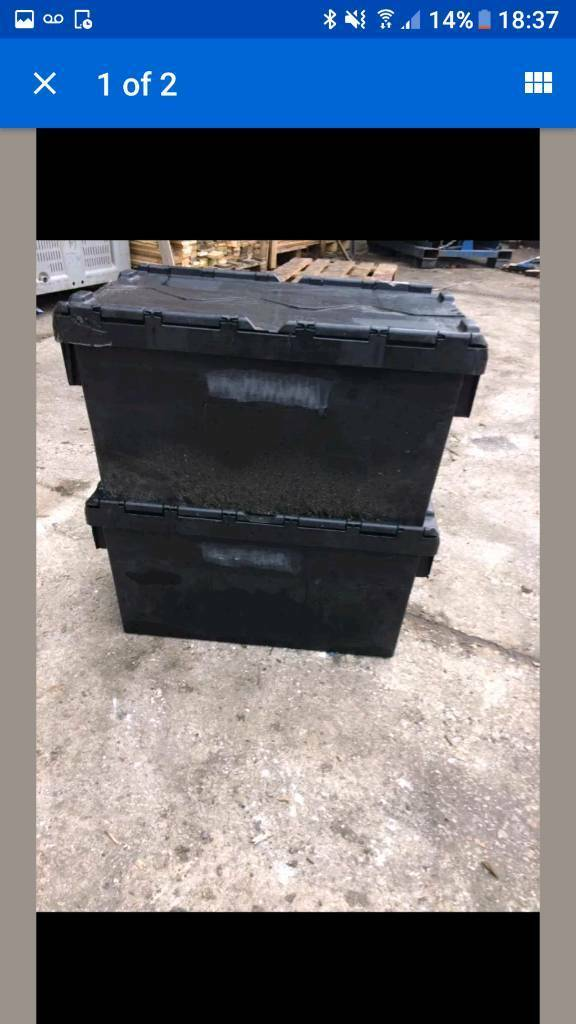 Heavy duty plastic tote/storage/ crate boxes