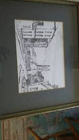 Tom Kerr print of The Priory Holywood