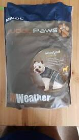 Ancol Muddy paws Green and black fleece lined jacket