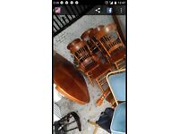 Solid wood table and 5 x chairs