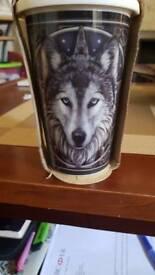 Wolf coffee travel mug